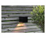 Aplica de perete de exterior solar cu LED Wally Cube - Best Season, Negru