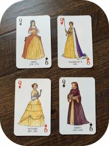Cărți de joc de lux Kings & Queens of England