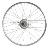 """Roată spate bicicletă electrică de oraș 28"""" perete dublu, Elops"""