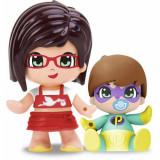 Figurina PinyPon Saten Inchis cu Bebe Surpriza