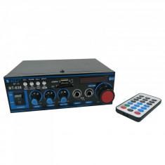 Amplificator bluetooth digital tip Statie 2 x 30 W intrari USB SD doua intrari microfon