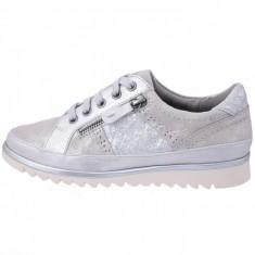 Pantofi dama, din piele naturala, marca Jana , 8-23706-20-14, gri 36