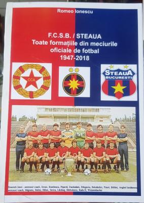 FCSB STEAUA TOATE FORMATIILE DIN MECIURILE OFICIALE 1947 2019 ROMEO IONESCU 196P foto