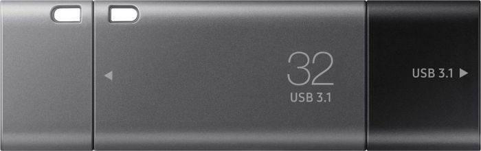 Memorie USB Samsung DUO Plus 32GB USB-C / USB 3.1 Black Grey