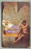 AD 256 C. P. VECHE -QUO VADIS ?-URSUS KEEP VIGIL IN THE PRISON OF LYGIA-PATATA, Franta, Circulata, Printata