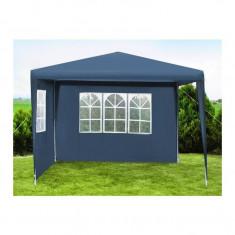 Cort pavilion pentru gradina, curte sau evenimente 3x3m, culoare Albastru