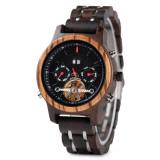 Cumpara ieftin Ceas din lemn Bobo Bird mecanic Q27-5