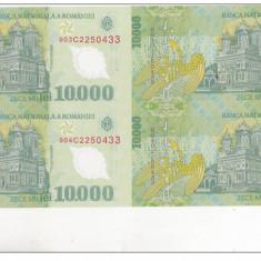 bnk sc  10000 lei 2000 Ghizari - coala de 4 ,  certificat de autenticitate