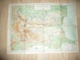 Harta RP Bulgaria 1956 , dim.= 68x50cm ,cateva reparatii pe spate