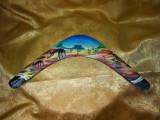 Boomerang arta aborigena, Australia, semnat, colectie, cadou, vintage