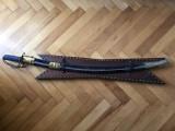 Sabie veche franceza de cavalerie pentru panoplie cu teaca si garda