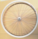 Roata Bicicleta Fata Syrius 26 559X18 Alu Dubla Argintie Natur V Brake Cnc Butuc Otel Nichelat 36H