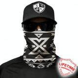 Bandana/Face Shield/Cagula/Esarfa - Aztec | Black & White, SA Co. original