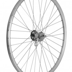 Roata bicicleta dubla Spate 28 inch(622x18) butuc Velosteel argintie