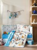 Set lenjerie de pat pentru copii, Cotton Box, bumbac ranforce, 120 x 150 cm, 129CTN5069, Albastru