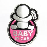 "Abtibild TS-126 ""BABY IN CAR"" fond roz TerraCars"
