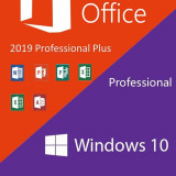 PACHET Windows 10 PRO + Office 2019 Professional Plus (Avast 3 ani GRATUIT)