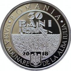 50 Bani 2018 in capsula, Romania, din fisic, 100 Ani de la Marea Unire din 1918