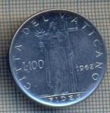AX 1313 MONEDA - VATICAN -100 LIRE -ANUL 1962 -STAREA CARE SE VEDE, Asia