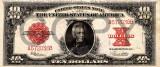 10 dolari 1923 Reproducere Bancnota USD , Dimensiune reala 1:1