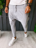 Pantaloni VAGABOND - de trening pentru barbati - slim fit - gri - A6407