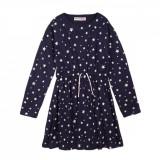 Rochie cu maneca lunga si imprimeu total Star Minoti