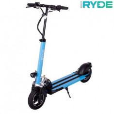 Trotineta electrica pliabila RYDE 500 - seria 10inch, Viteza maxima 45 Km/h, Autonomie 25-30 Km/h, Putere motor 500 W (Albastru)