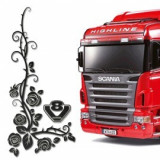 Set 2 x Sticker geamuri laterale Scania, TIR028, 4World