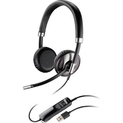 Casca Call Center Plantronics BLACKWIRE C720, USB, Binaural, Smart Sensor foto
