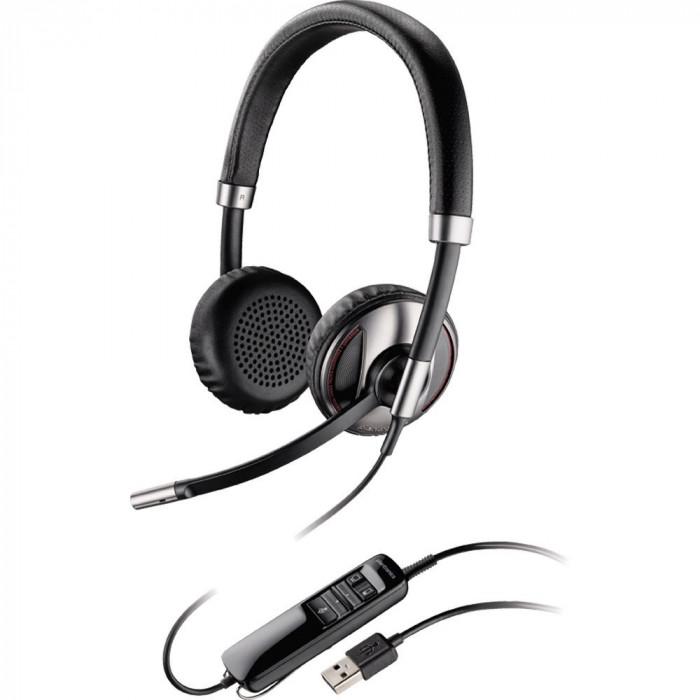 Casca Call Center Plantronics BLACKWIRE C720, USB, Binaural, Smart Sensor