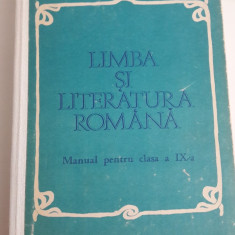 manual vechi LIMBA SI LITERATURA ROMANA cl. a IX-a 1983