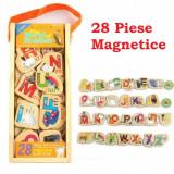 Set litere magnetice din lemn - 28 piese.