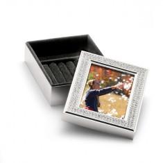 Caseta de bijuterii argint cu Swarowski by Chinelli Cod Produs 722