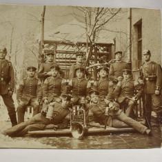 Fotografie veche Militari Prusia - instrumente muzicale si halbe de bere c.1910