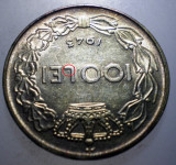 R.163 ROMANIA WWII MIHAI I 100 LEI 1943 EROARE