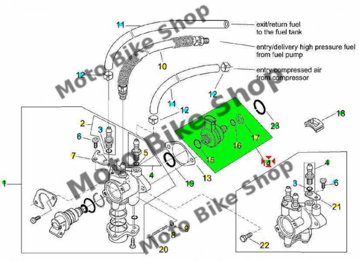 MBS Injector aer Aprilia SR Ditech LC, Cod Produs: AP3AGA000137PI