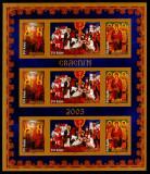 Romania 2005, LP 1704 c, Craciun, bloc nedantelat, MNH! LP 10,00 lei, Religie, Nestampilat