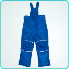Pantaloni—salopeta iarna, grosi, impermeabili, TCM→ baieti   5—6 ani  110—116 cm, Alta, Albastru