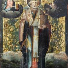 Sf. Nicolae, Icoană pictată pe lemn (veche)