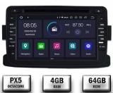 NAVIGATIE Dacia Renault ANDROID 9 Octacore PX5 4GB RAM + 64GB ROM cu DVD 7 Inch AD BGWDACIA7P5