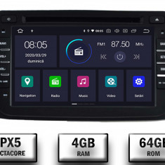 NAVIGATIE Dacia Renault ANDROID 9 Octacore PX5 4GB RAM + 64GB ROM cu DVD 7 Inch AD BGWDACIA7P5