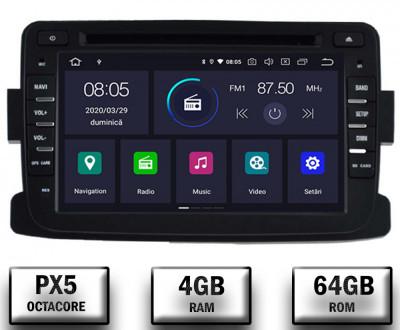 NAVIGATIE Dacia Renault, ANDROID 9, Octacore PX5 4GB RAM + 64GB ROM cu DVD, 7 Inch - AD-BGWDACIA7P5 foto