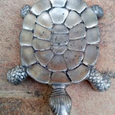 Broasca broscuta zinc veche vintage scrumiera decor