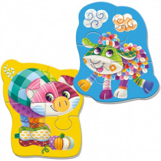 Puzzle magnetic Oita/Porcusor Roter Kafer, 22 x 17 cm, 3 ani+