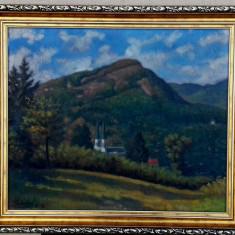 Tablou autentic Schilling Janos, Peisaje, Ulei, Impresionism