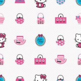 Tapet camera copii Rola 10 X 0,52 m Hello Kitty Fashion