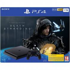 Consola PlayStation 4 Slim, 1TB, Jet Black + joc Death Stranding