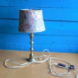 Cumpara ieftin LAMPA MARE DE NOPTIERA FACUTA DIN BRONZ CU ABAJUR - STIL RETRO