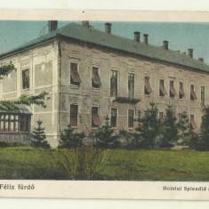 cp Baile Felix : Hotelul Splendid - circulata 1929, timbre