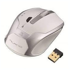 Mouse wireless alb-argintiu